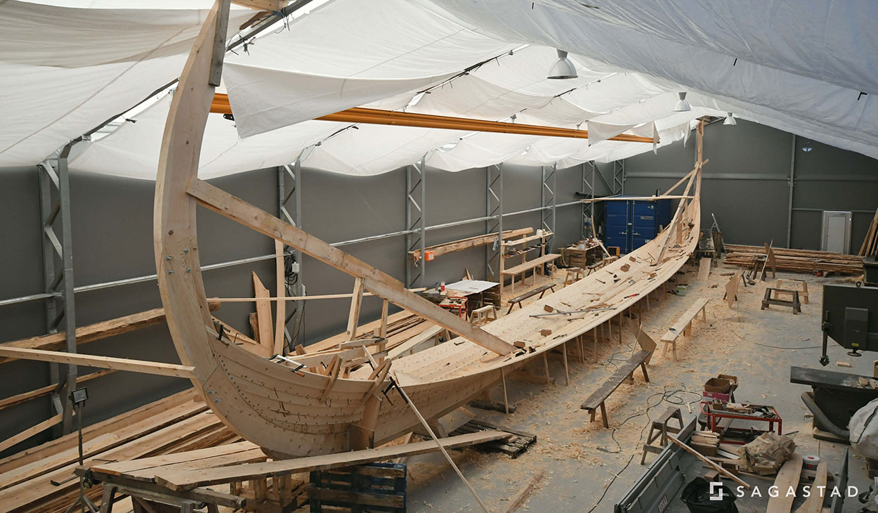 Myklebustskipet under bygging